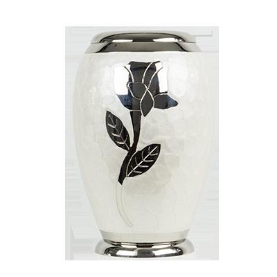 White marble memory urn